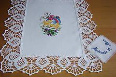 Úžitkový textil - Ručne vyšívaná dečka Veľká Noc - 9276138_