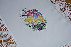 Úžitkový textil - Ručne vyšívaná dečka Veľká Noc - 9276141_