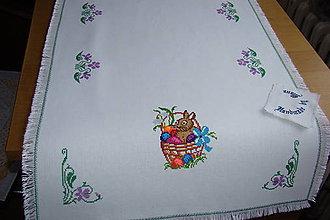 Úžitkový textil - Ručne vyšívaný obrus na Veľkú Noc - 9276017_