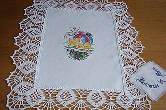 Úžitkový textil - Ručne vyšívaná dečka Veľká Noc - 9276134_