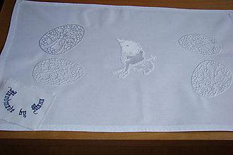 Úžitkový textil - Strojom vyšívaná dečka Veľká Noc - 9276195_