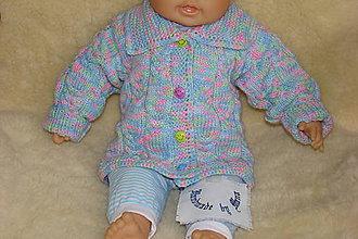 Detské oblečenie - Ručne pletený viacfarebný svetrík - 9276485_