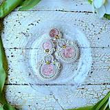 Náušnice - Peach ice cream - sutaškové náušnice - 9275269_