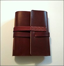 Papiernictvo - Luxusný kožený zápisník/sketchbook ,,Adonaj