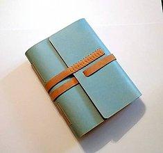 Papiernictvo - Luxusný kožený zápisník/sketchbook ,,Ráchel