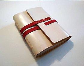 Papiernictvo - Luxusný kožený zápisník/sketchbook ,,Meredith