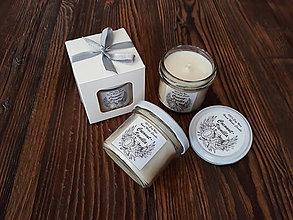 Svietidlá a sviečky - Sviečka zo 100% sójového vosku v skle - Kokos&Vanilka - Darčeková krabička - 9278423_