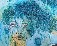 Šály - Tajomstvá stromov-hodvábny maľovaný šál - 9278646_