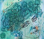 Šály - Tajomstvá stromov-hodvábny maľovaný šál - 9278648_