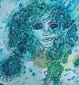 Šály - Tajomstvá stromov-hodvábny maľovaný šál - 9278655_