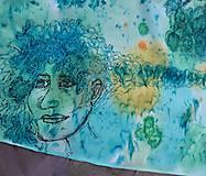 Šály - Tajomstvá stromov-hodvábny maľovaný šál - 9278656_