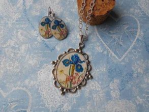 Sady šperkov - Modrý kosatec - ZĽAVA zo 6,50 eur - 9274889_