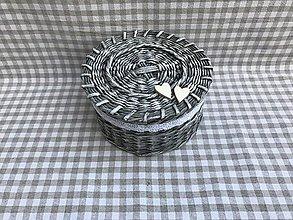 Dekorácie - Košík okrúhly stredný - 9274215_