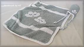Textil - Detská deka OBLÁČIK (XL) - 9274928_