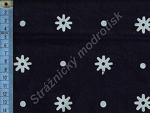 Textil - Metráž bavlna MODROTLAČ, vzor 50 - 9275512_