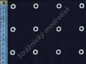 Textil - Metráž bavlna MODROTLAČ, vzor 51 - 9275523_