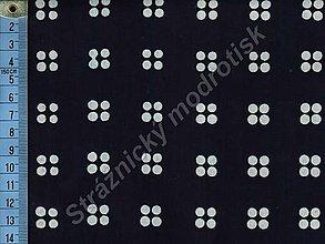 Textil - Metráž bavlna MODROTLAČ, vzor 54 - 9275555_