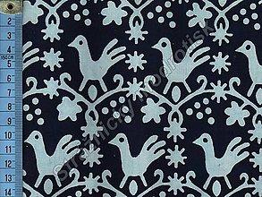 Textil - Metráž bavlna MODROTLAČ, vzor 55 - 9275558_