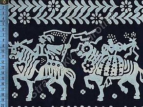 Textil - Metráž bavlna MODROTLAČ, vzor 58 - 9275612_