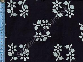 Textil - Metráž bavlna MODROTLAČ, vzor 59 - 9275623_