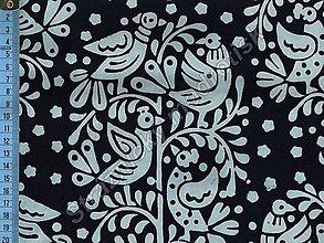 Textil - Metráž bavlna MODROTLAČ, vzor 61 - 9275632_