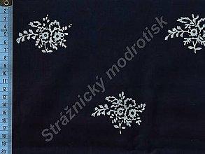 Textil - Metráž bavlna MODROTLAČ, vzor 65 - 9275654_