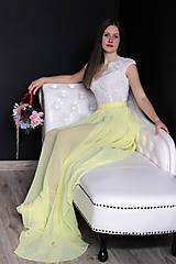 Sukne - Šifónová sukňa s vlečkou rôzne farby - 9276524_