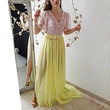 Sukne - Šifónová sukňa s vlečkou rôzne farby - 9276523_