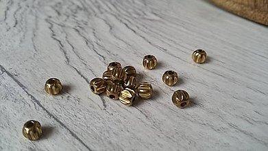 Korálky - Medené korálky - tekvičky 5mm - 9274058_