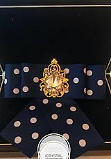 Odznaky/Brošne - Hand Made mašľa, bow do košelí - 9274153_