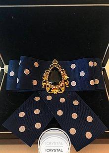 Odznaky/Brošne - Hand Made mašľa, bow na košeľu - 9274164_