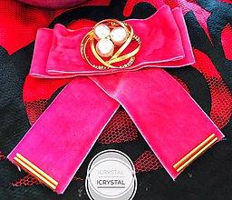 Odznaky/Brošne - Hand Made mašľa, bow na košeľu - 9274166_