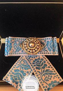 Odznaky/Brošne - Hand Made mašľa, bow na košeľu - 9274187_