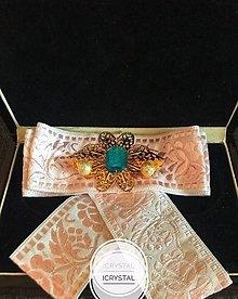 Odznaky/Brošne - Hand Made mašľa, bow na košeľu - 9274205_