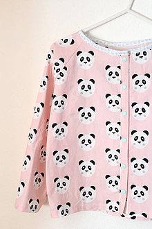 """Detské oblečenie - pyžamový vrch """"Panda """" - 9278662_"""
