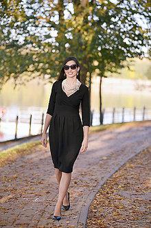 Šaty - Čierne šaty Audrey, vel. S-M - 9277240_