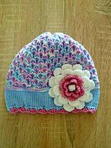 Svetlunko modro ruzovo biela prechodna ciapka