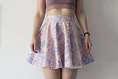 Sukne - Skater Skirt pink-blue - 9282440_