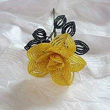 Dekorácie - Žlutá růžička - velká - 9278809_