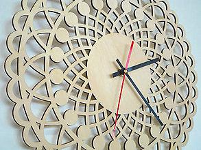 Hodiny - Drevené Mandala hodiny: Harmónia - 9280135_