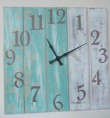 Hodiny - Nástenné hodinky - maxi tyrkys - 9280881_