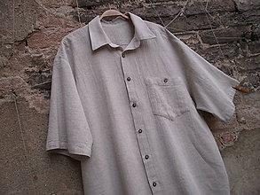Oblečenie - Pánská klasika v režné XL - 9281139_