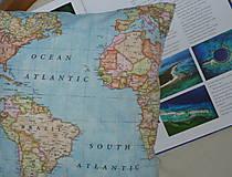 Úžitkový textil - Obliečka Svetová mapa - 9279892_