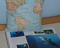 Úžitkový textil - Obliečka Svetová mapa - 9279893_