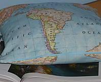 Úžitkový textil - Obliečka Svetová mapa - 9279896_