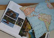 Úžitkový textil - Obliečka Svetová mapa - 9279897_