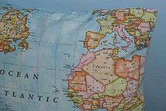 Úžitkový textil - Obliečka Svetová mapa - 9280916_