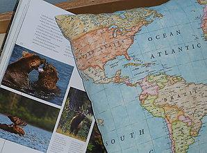 Úžitkový textil - Obliečka Svetová mapa - 9280915_