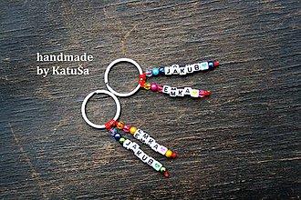 Kľúčenky - nestraťkĺúč ANJEL s menom (Pestrofarebná) - 9279119_