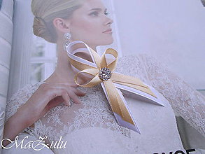 Pierka - svadobné pierka béžové - 9278786_